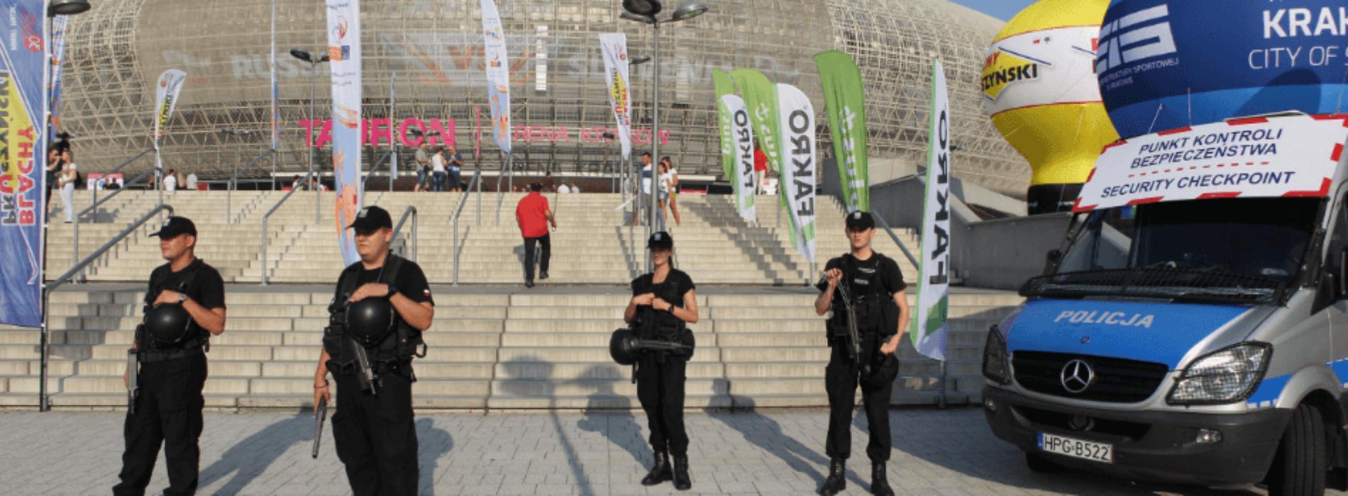 Krakowscy policjanci zabezpieczają Lotto Eurovolley Poland 2017
